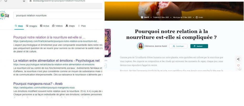 Résultats SEO Google première position - article de vulgarisation santé - Koïné agence rédaction web SEO