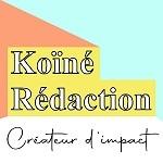 Logo de l'agence de rédaction et de communication inclusive Koïné Rédaction basée dans le Val-de-Marne. Koïné accompagne les entreprises pour créer des textes et une stratégie éditoriale cohérente.