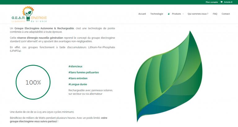 Les prestations réalisées pour ce client, à savoir de la rédaction SEO pour sa page d'accueil et l'animation de ses pages entreprises sur les réseaux sociaux (community management). Nous vulgarisons ses solutions en matière d'énergie verte.