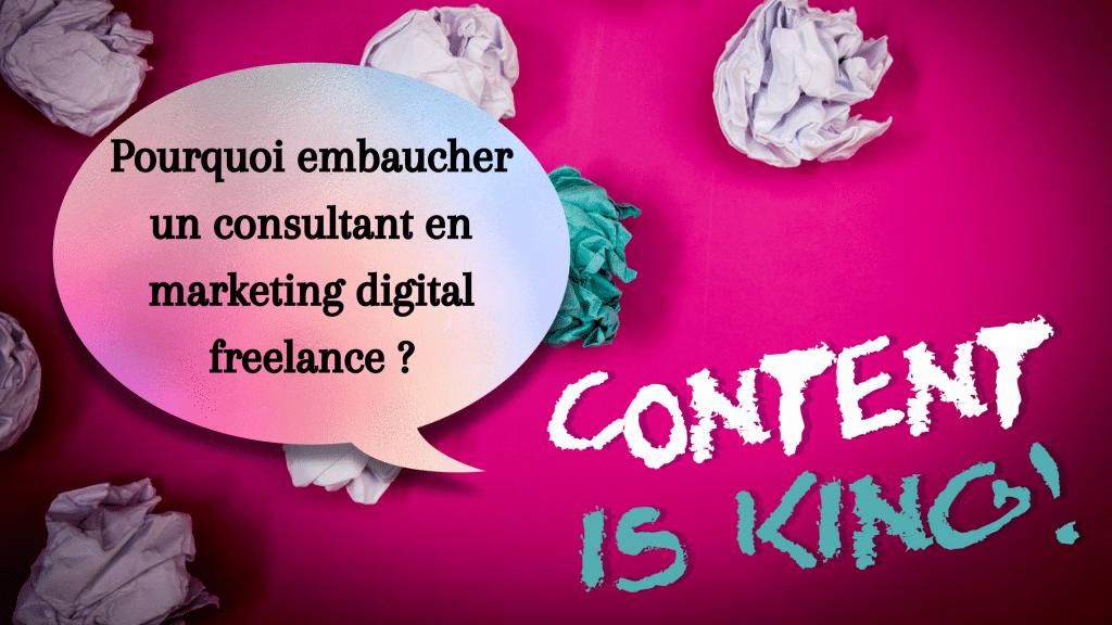 Pourquoi faire appel à un consultant en marketing de contenus freelance ou indépendant offre de nombreux avantages pour ses clients comme palier un manque de ressources ou de compétences en interne - Les conseils marketing de l'agence de communication inclusive parisienne Koïné Rédaction